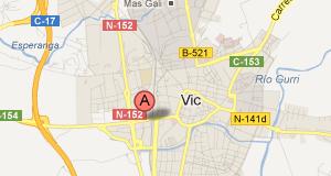Mapa Oficina Vic